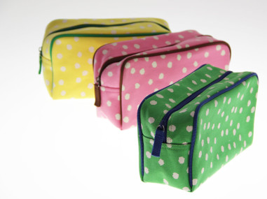 Polka Dot Cosmetic Bags