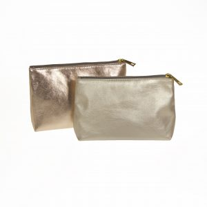gold Cosmetic bags