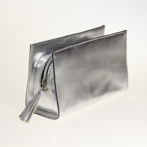 silver cosmetic case