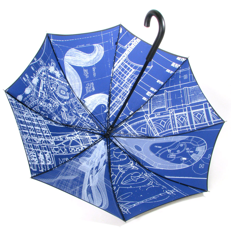 Interior Print Silkscreen Umbrellas