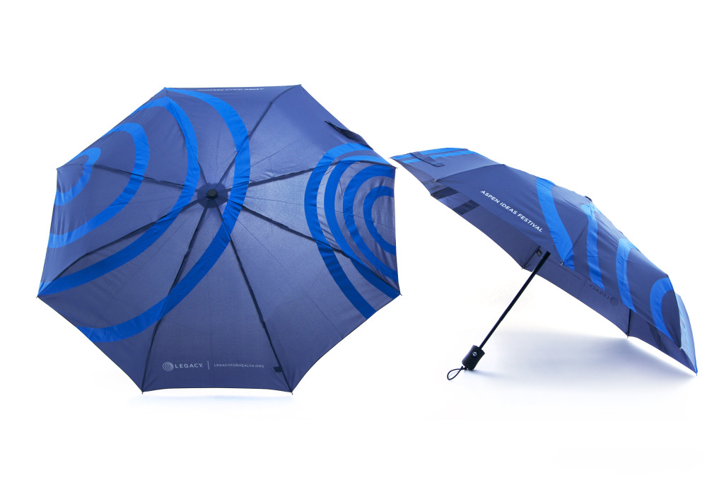 allover print logo umbrellas