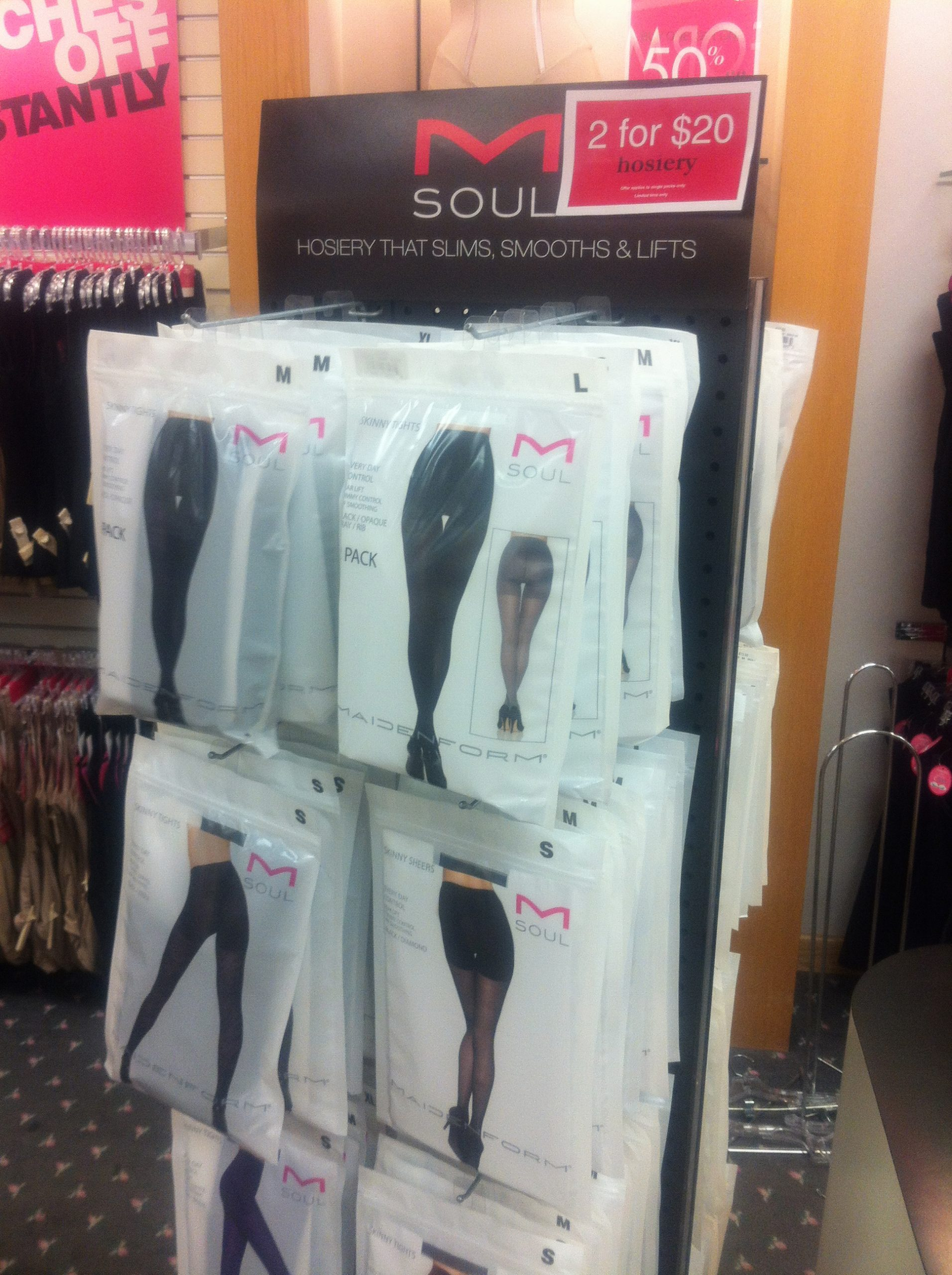 Maidenform Tights Packaging