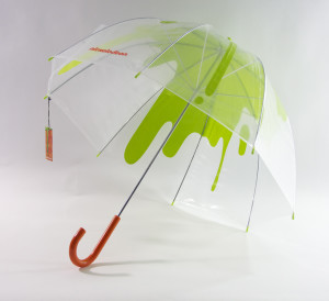 orange handle umbrella