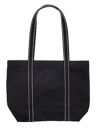 Contrast stitched tote