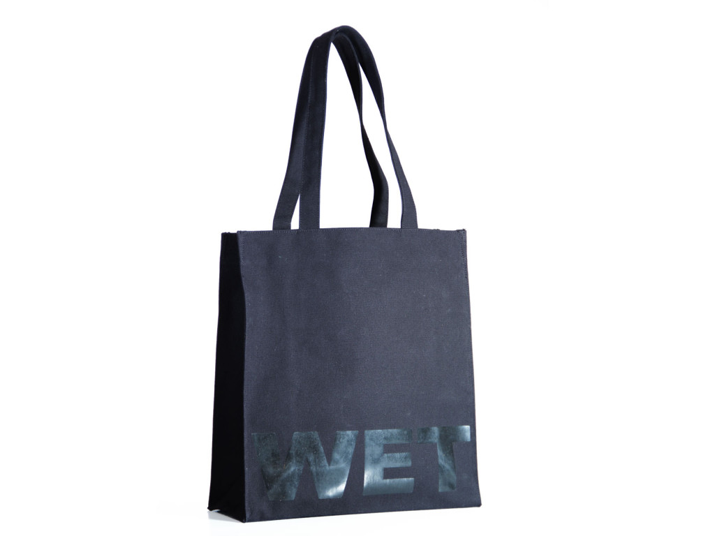 black tote varnish print