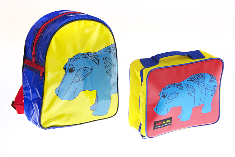 custom kids lunch box and backpack made by Gouda