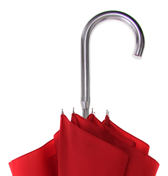 Aluminum Handle red umbrellas