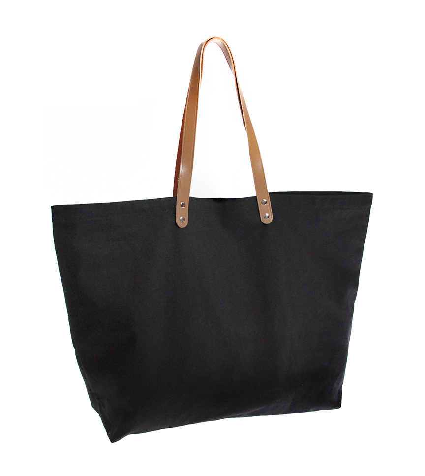 Leather Handle Tote
