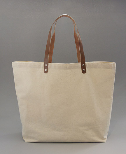 Leather Handle Canvas Tote - Gouda, Inc.