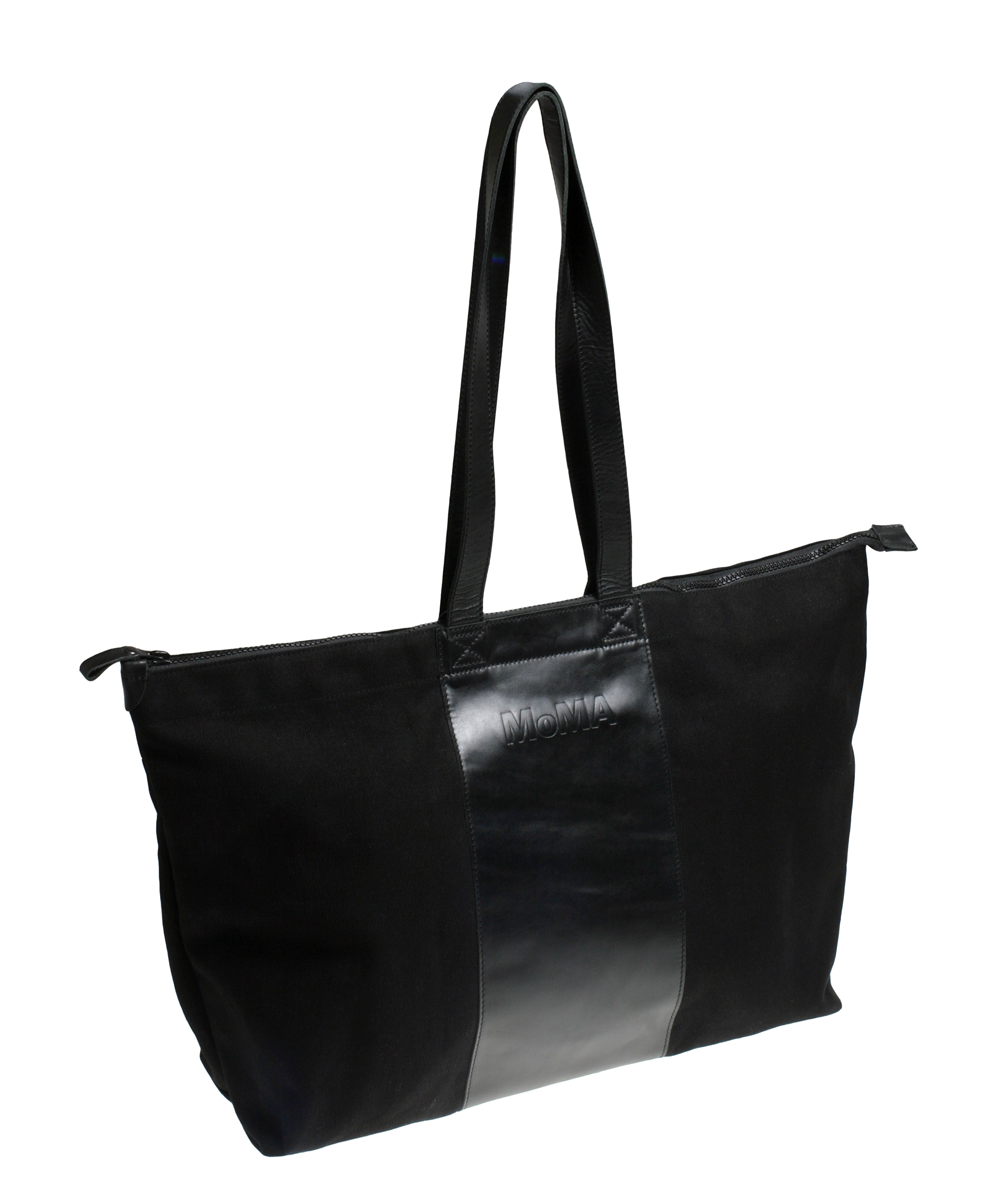 Leather and canvas totes
