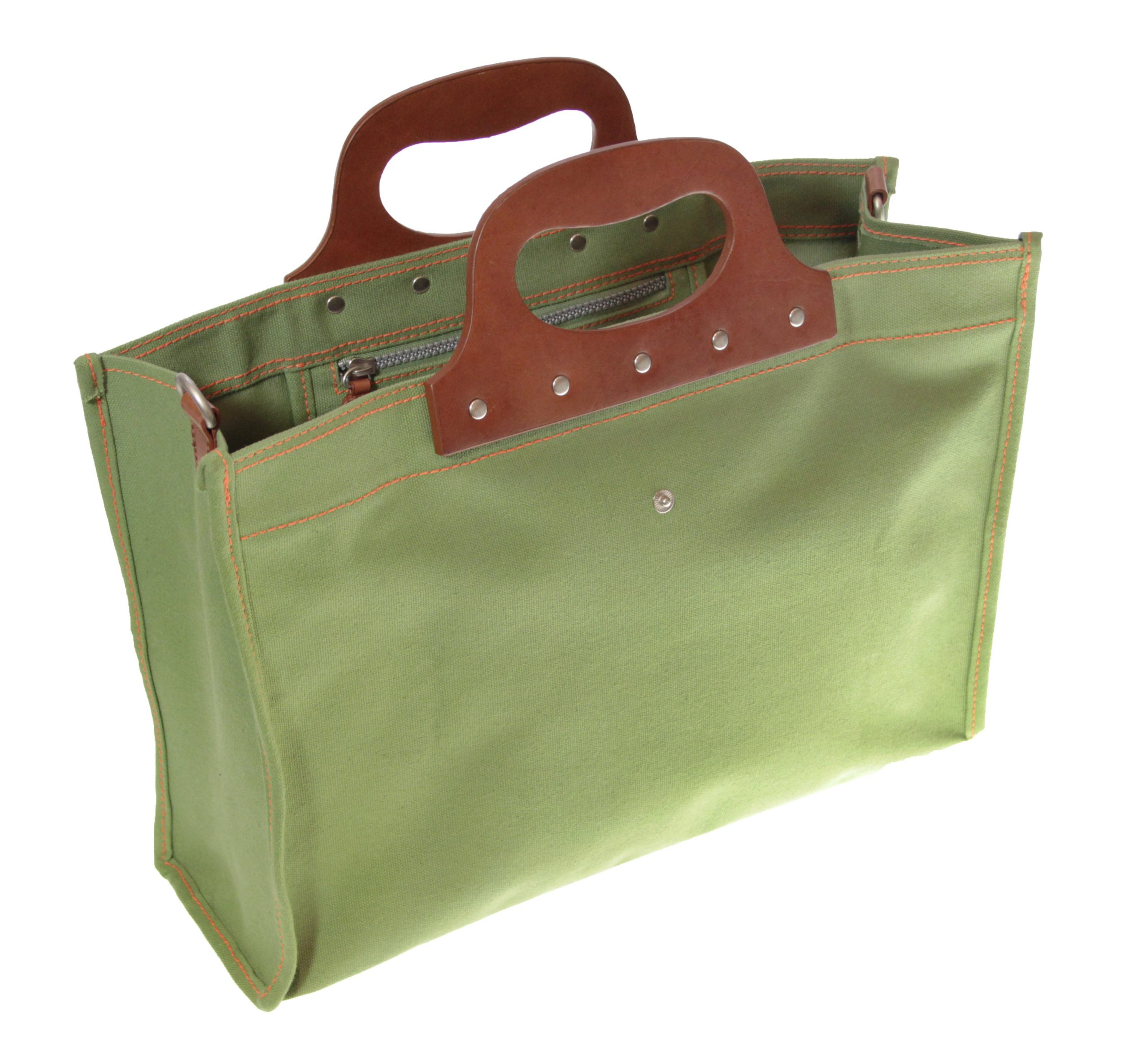 leather handle folding tote