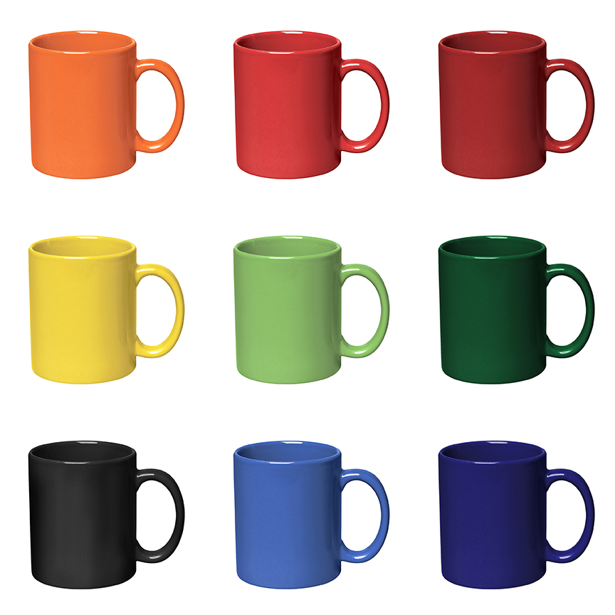 Bright Color Logo Mugs Custom Printed With Your Logo