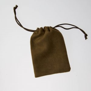 brushed suede pouch