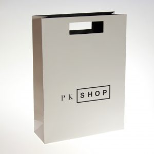 die cut shopping bag