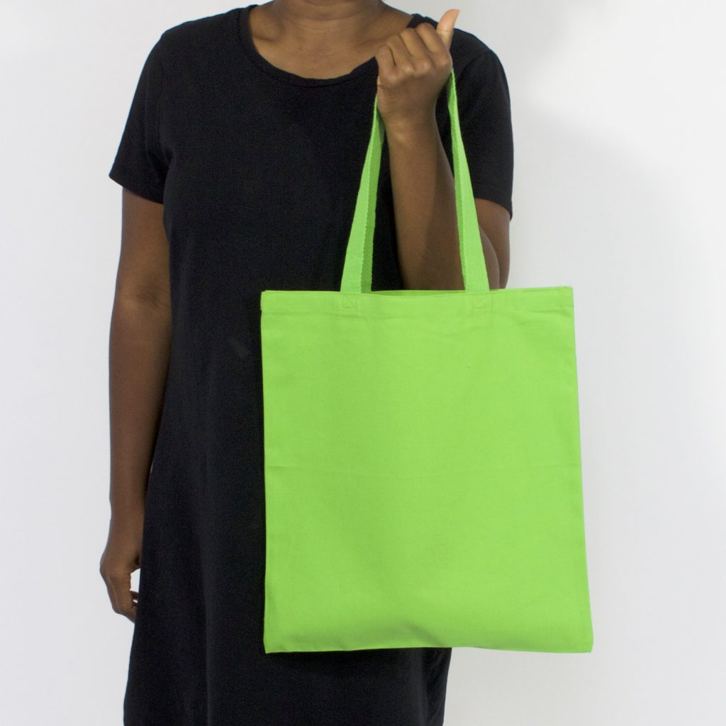 12 oz canvas tote lime
