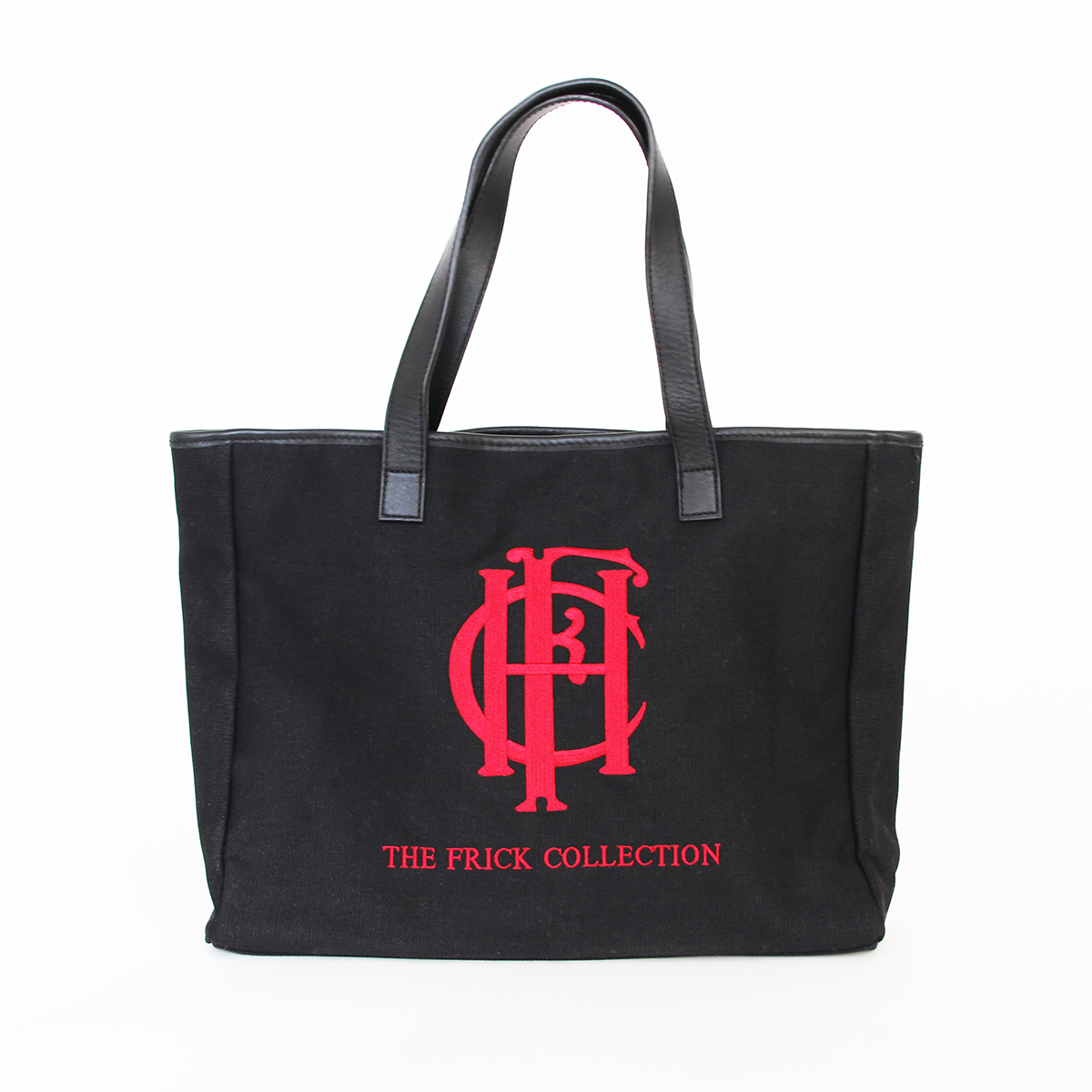 Frick Embroidered Tote Leather Handles