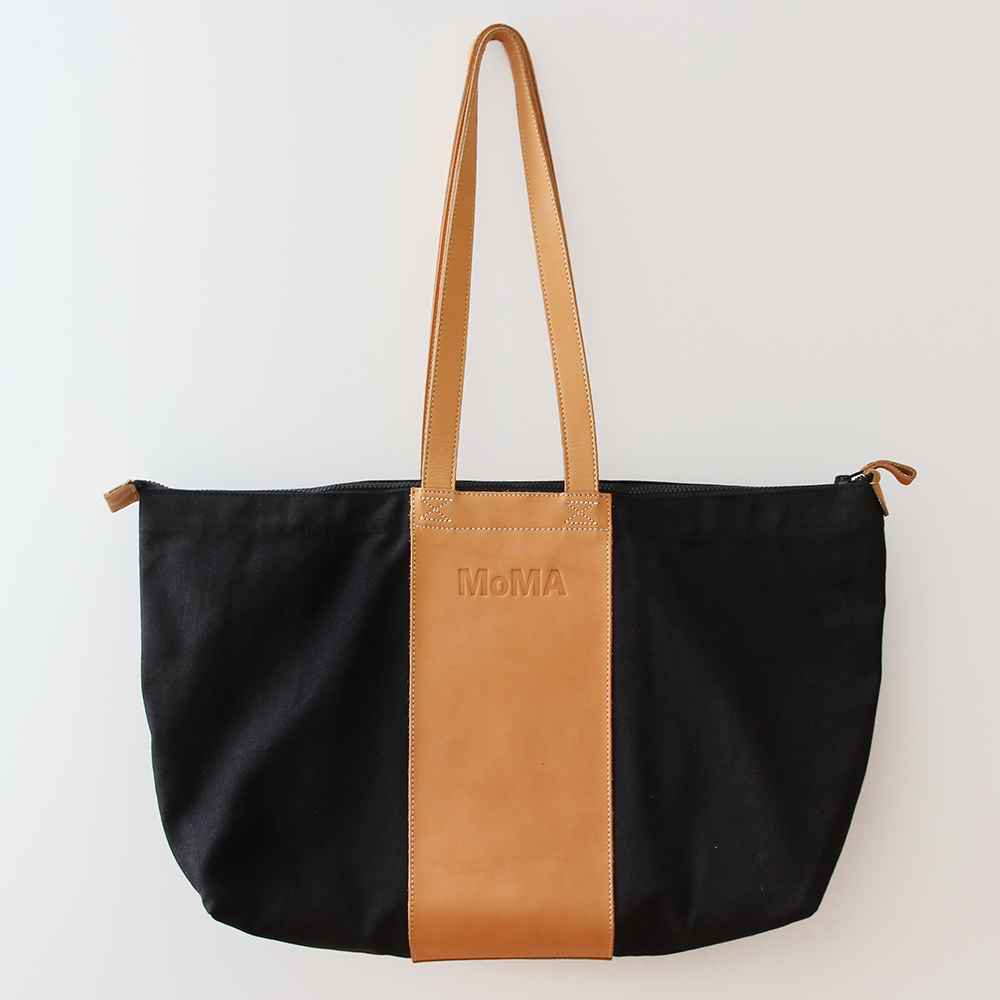 Leather Handle MoMA tote