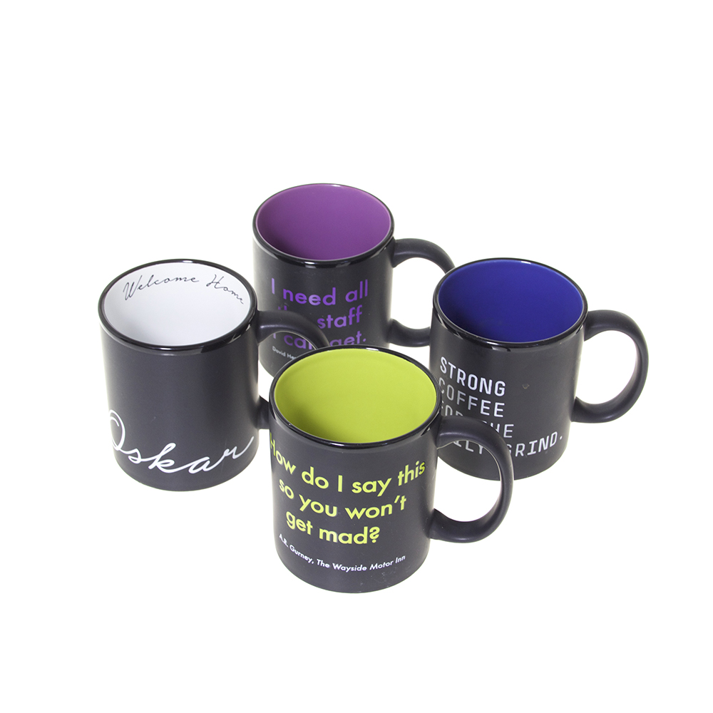 Interior Color Mugs with Interior Lip Prints