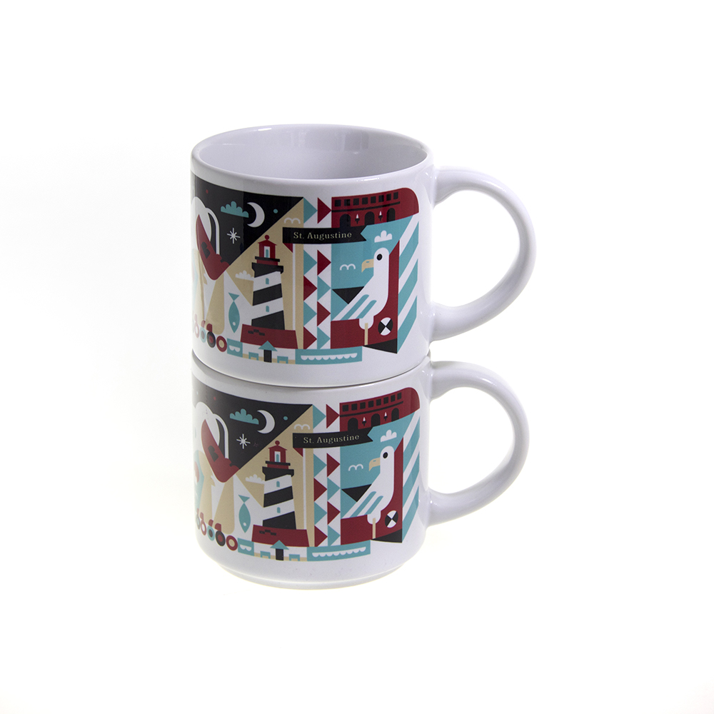 Custom Stacking Mugs