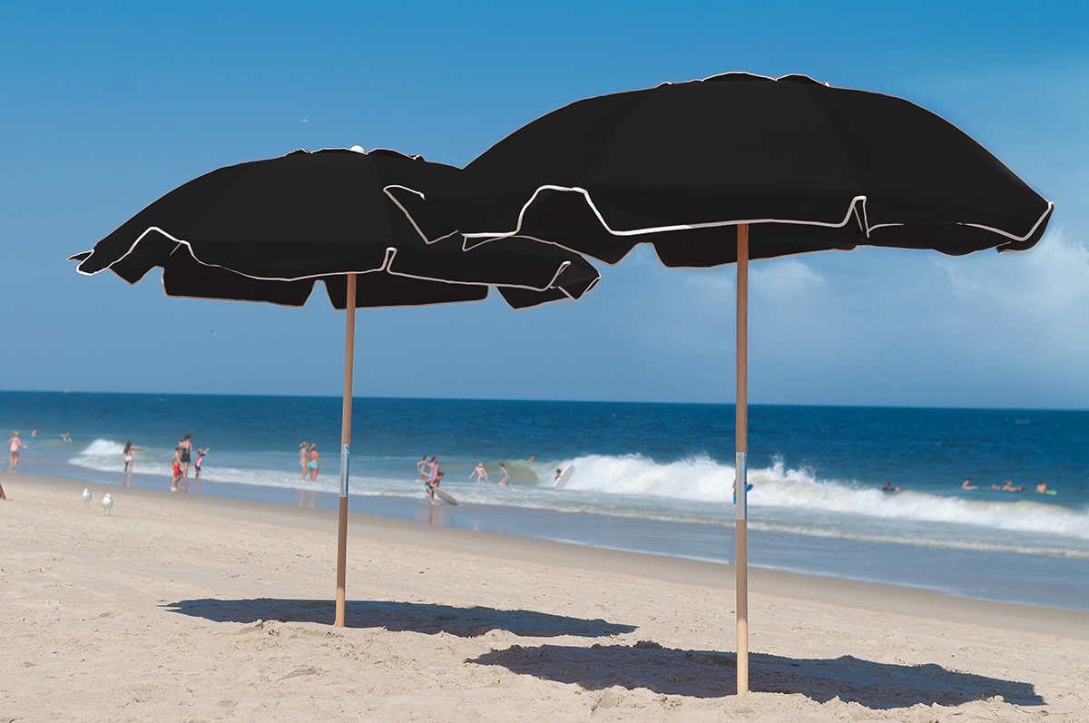 Custom Beach Umbrellas Navy
