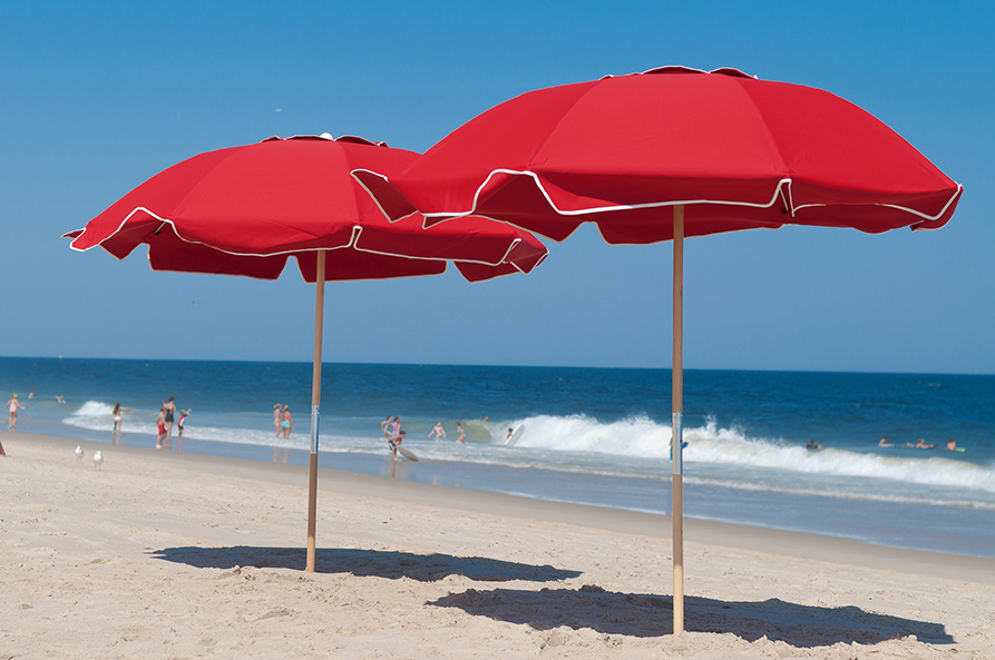 Custom Beach Umbrellas Red