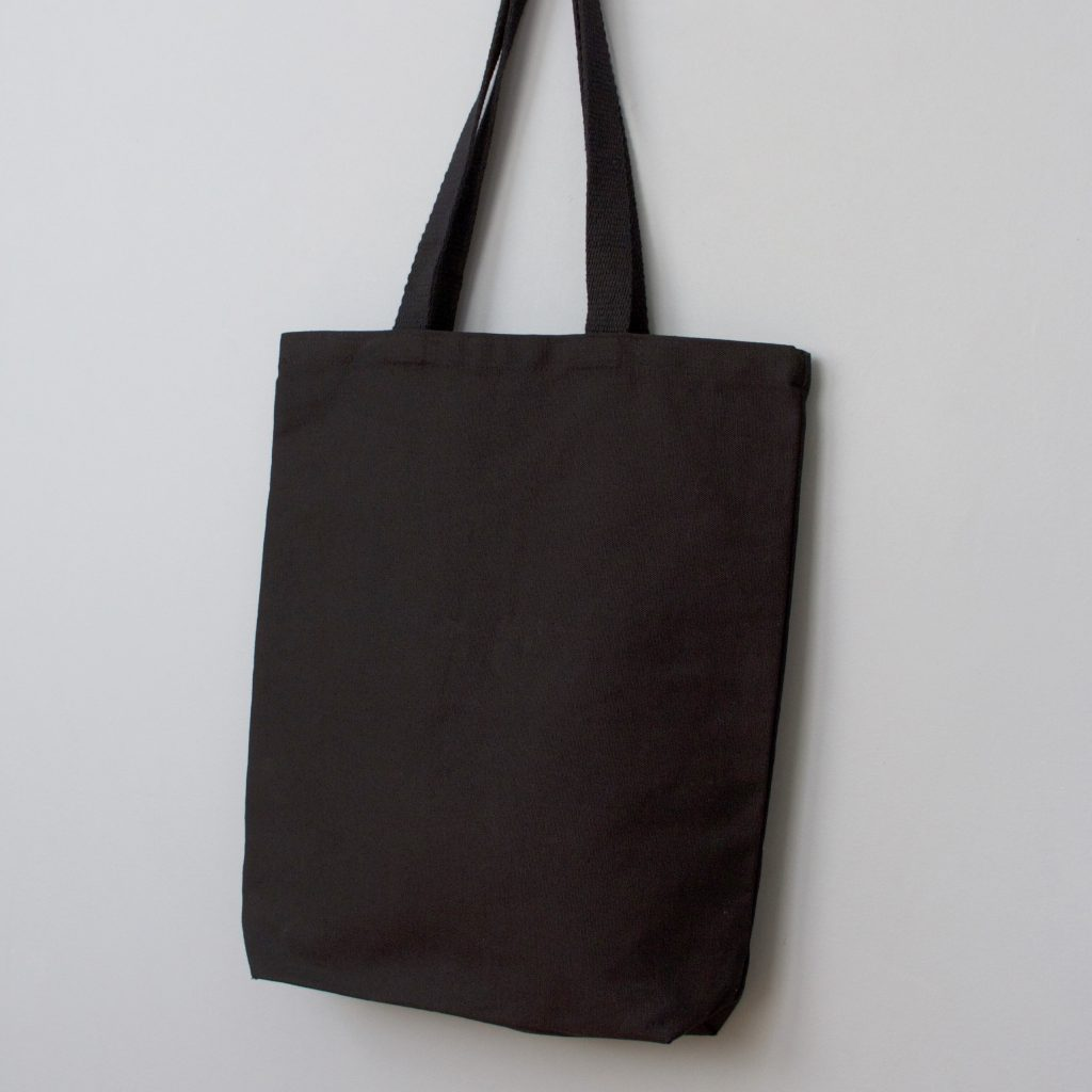 The Perfect Tote- Natural black cotton