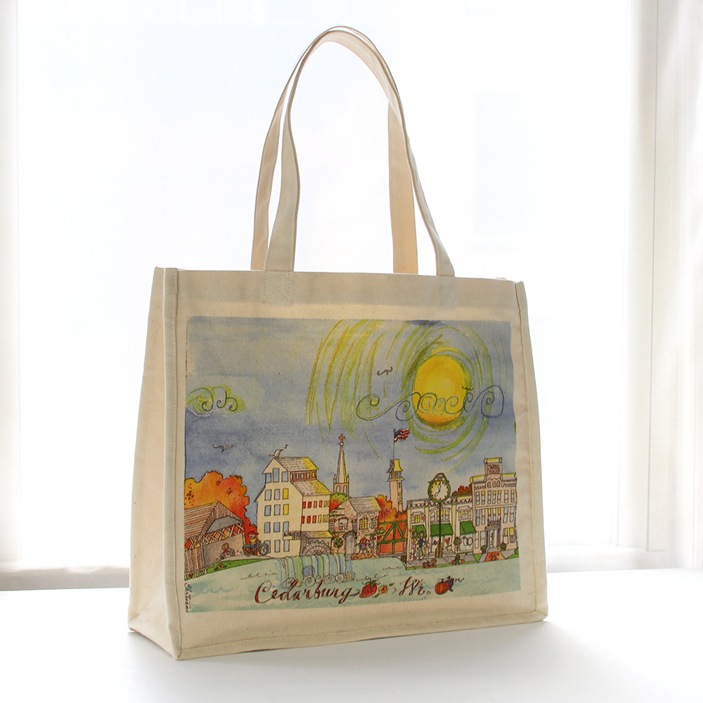 Digital Print Canvas Tote