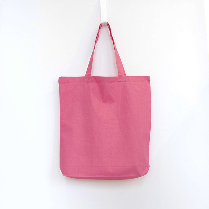 6oz Cotton Tote with Gusset - Pink