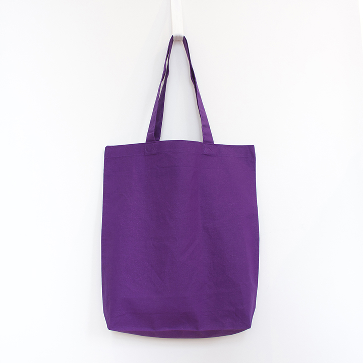 6oz Cotton Tote with Gusset - Purple