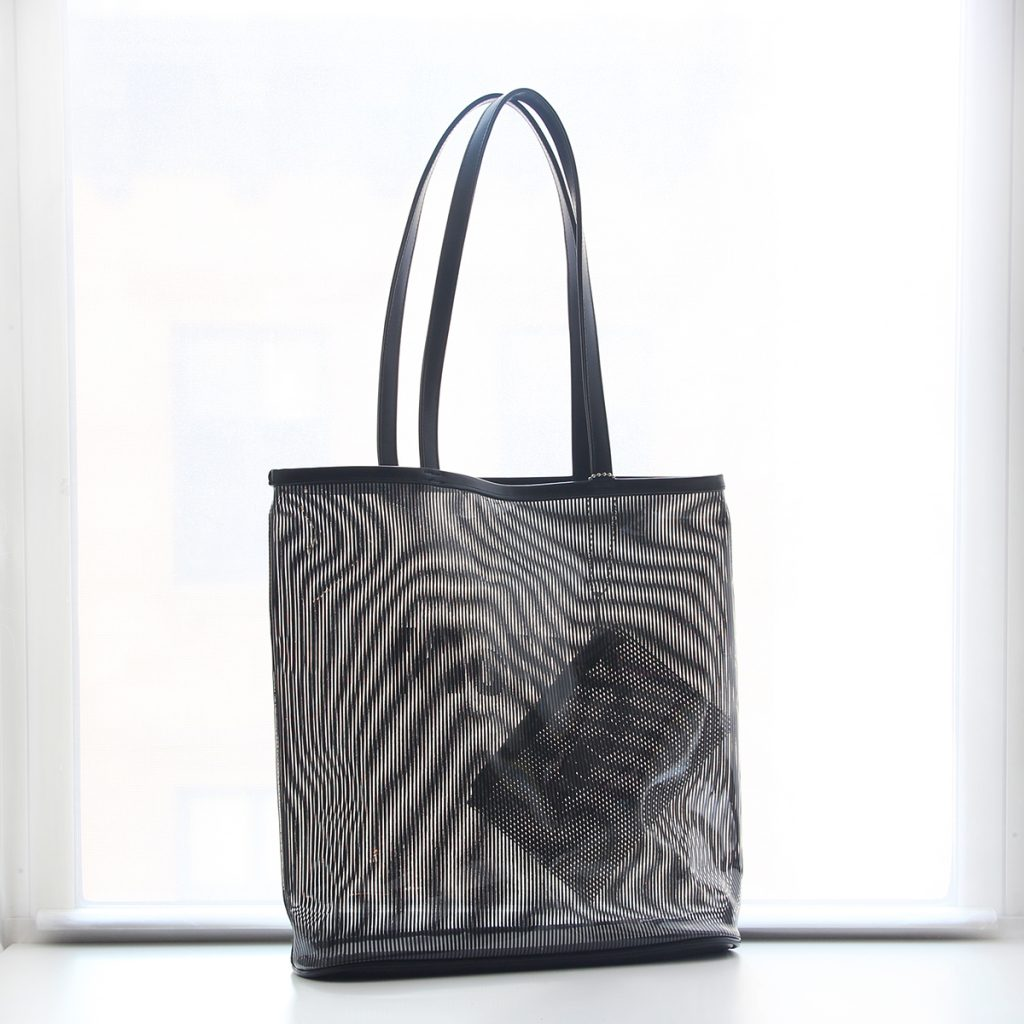 clear pvc tote bag with print
