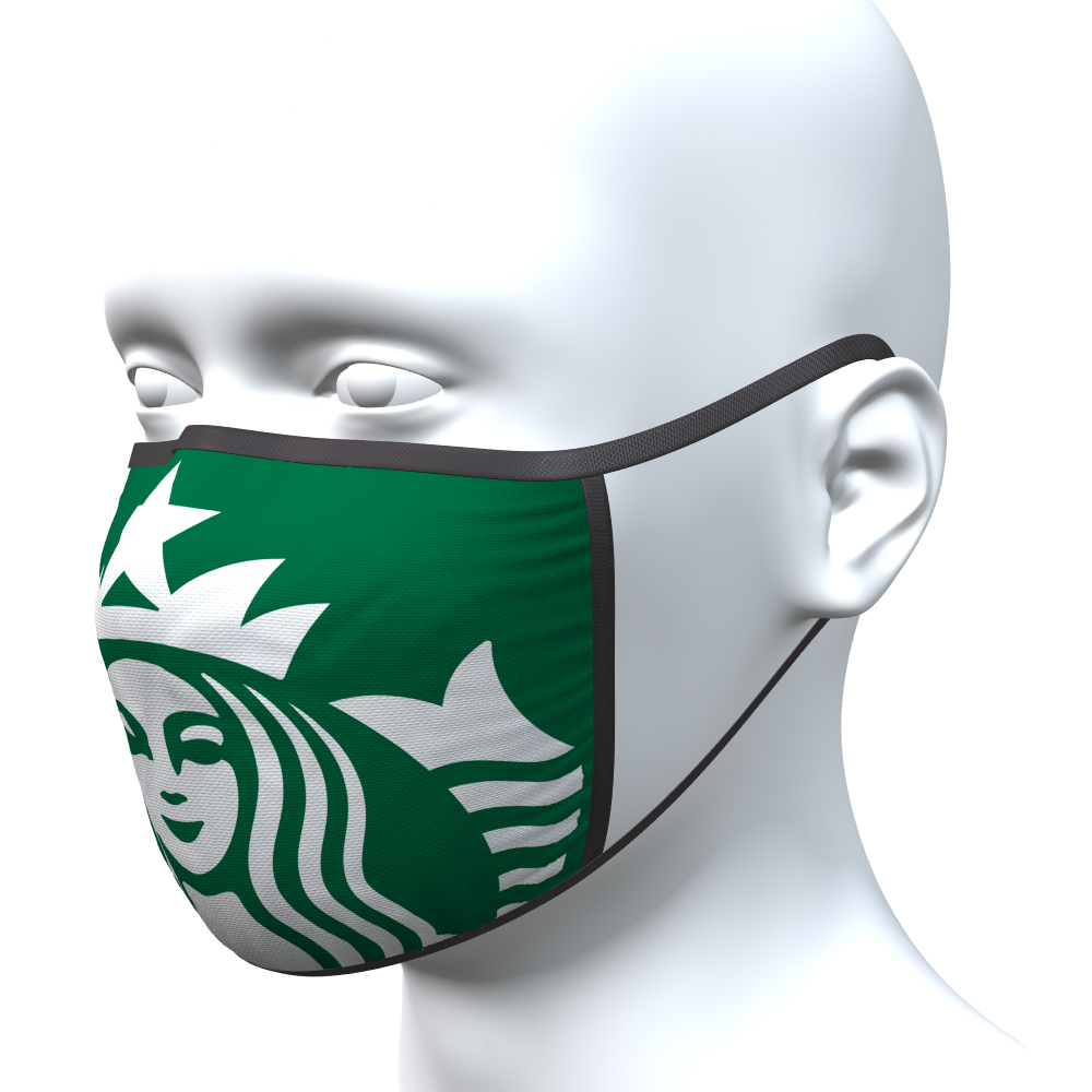 Custom printed face masks made in the USA 2 ply construction with filter pocket