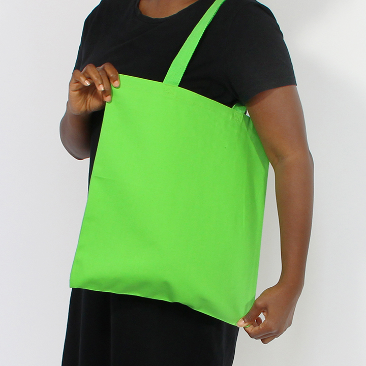 12 oz lime canvas tote