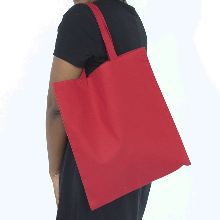 12 oz red canvas tote