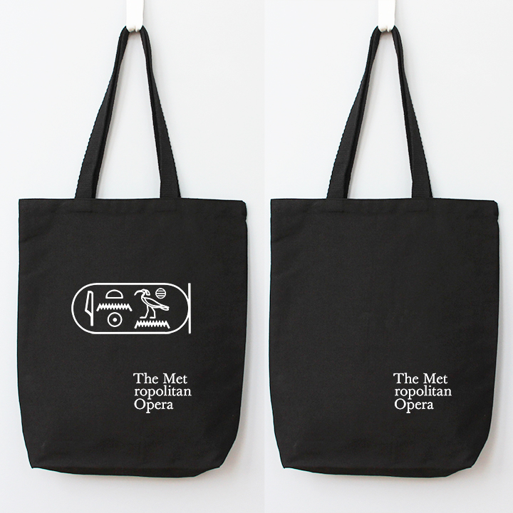 Perfect Tote Black- front and back Black canvas
