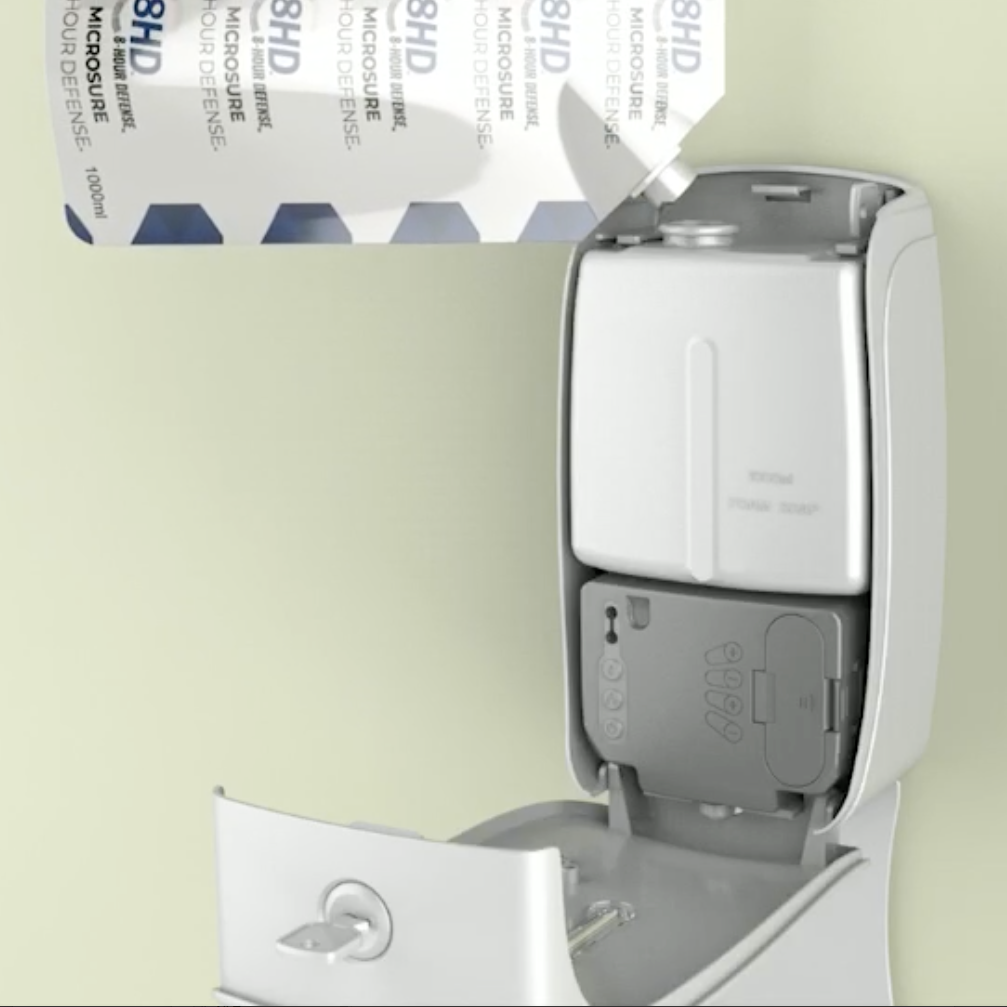 Refill hand sanitizer dispenser