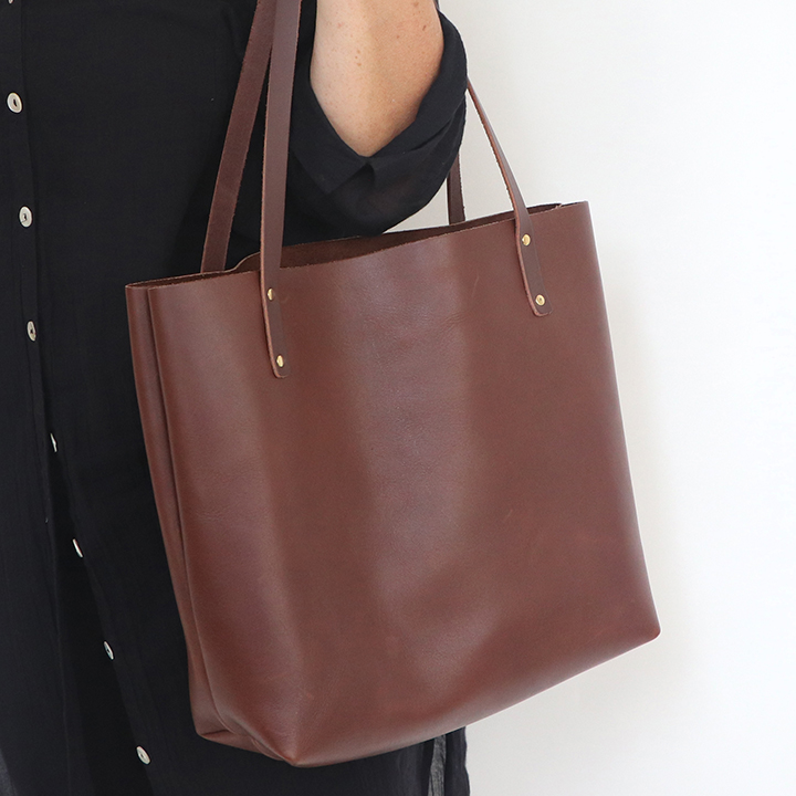 All Leather Custom Tote