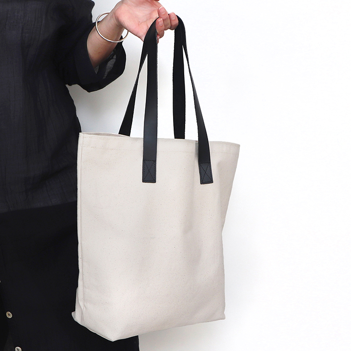 Black Leather Handle Custom Tote