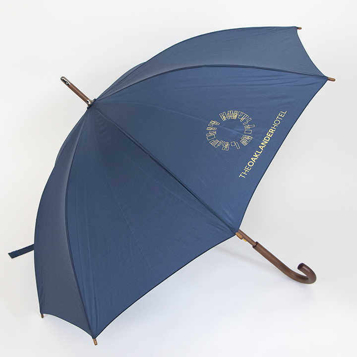 Classic Wood Frame Umbrella - Navy