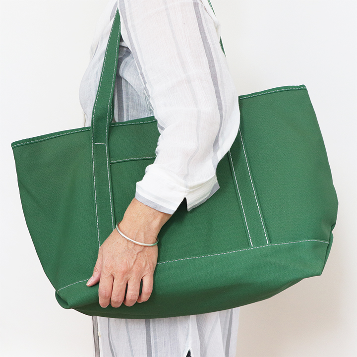 Cotton Canvas Boat Bag - Green