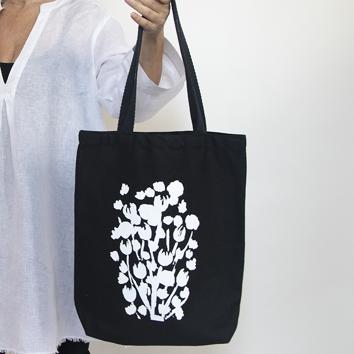 Perfect Tote Black with one color silkscreen