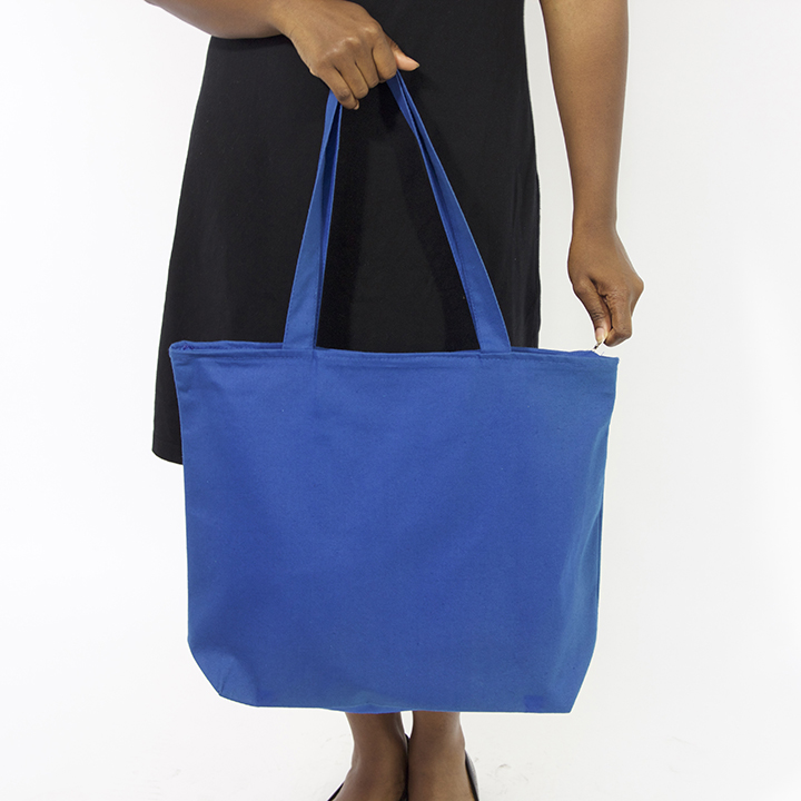 Zipper Top Tote Royal Tote