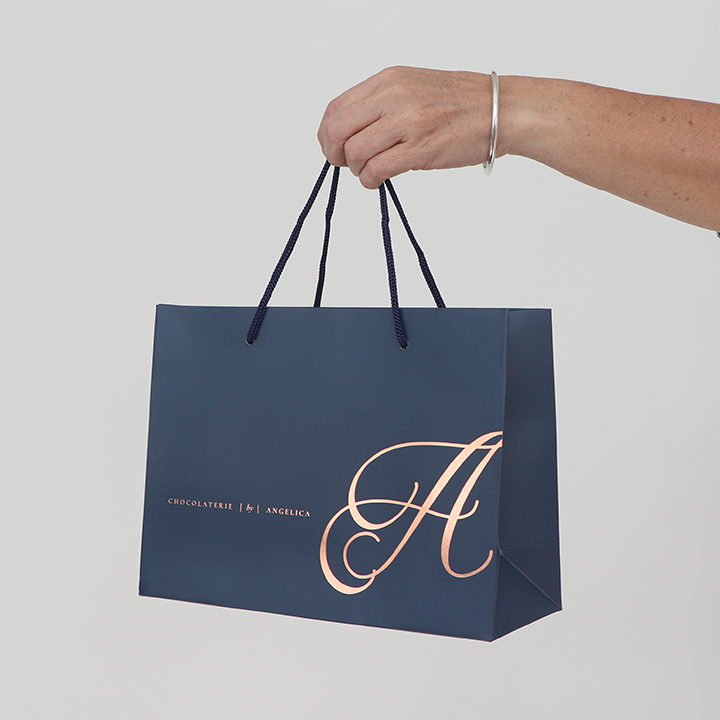 Custom Paper Shopping Bag Foil Logo