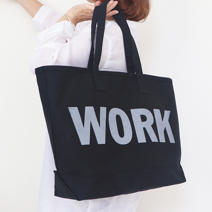 Heavy Black Canvas Tote Made to order