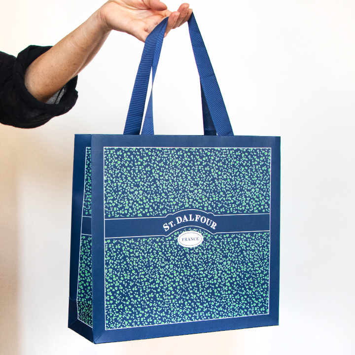 Paper Shopping Bag with Ribbon Handles
