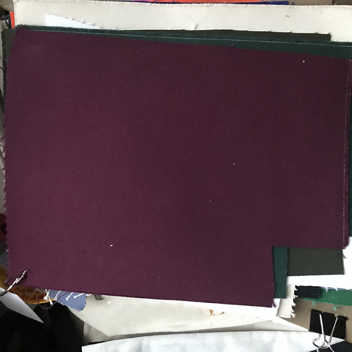 Dyed Canvas Burgundy for custom tote bags