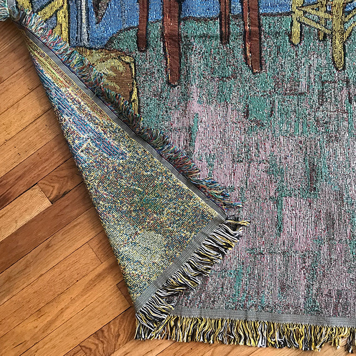 custom VanGogh throw