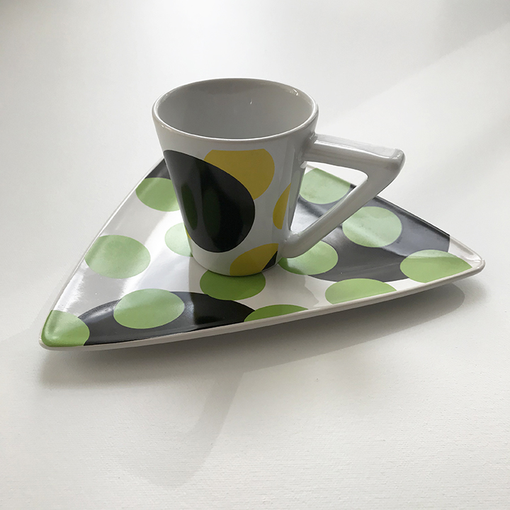 custom molded ceramic cup and saucer