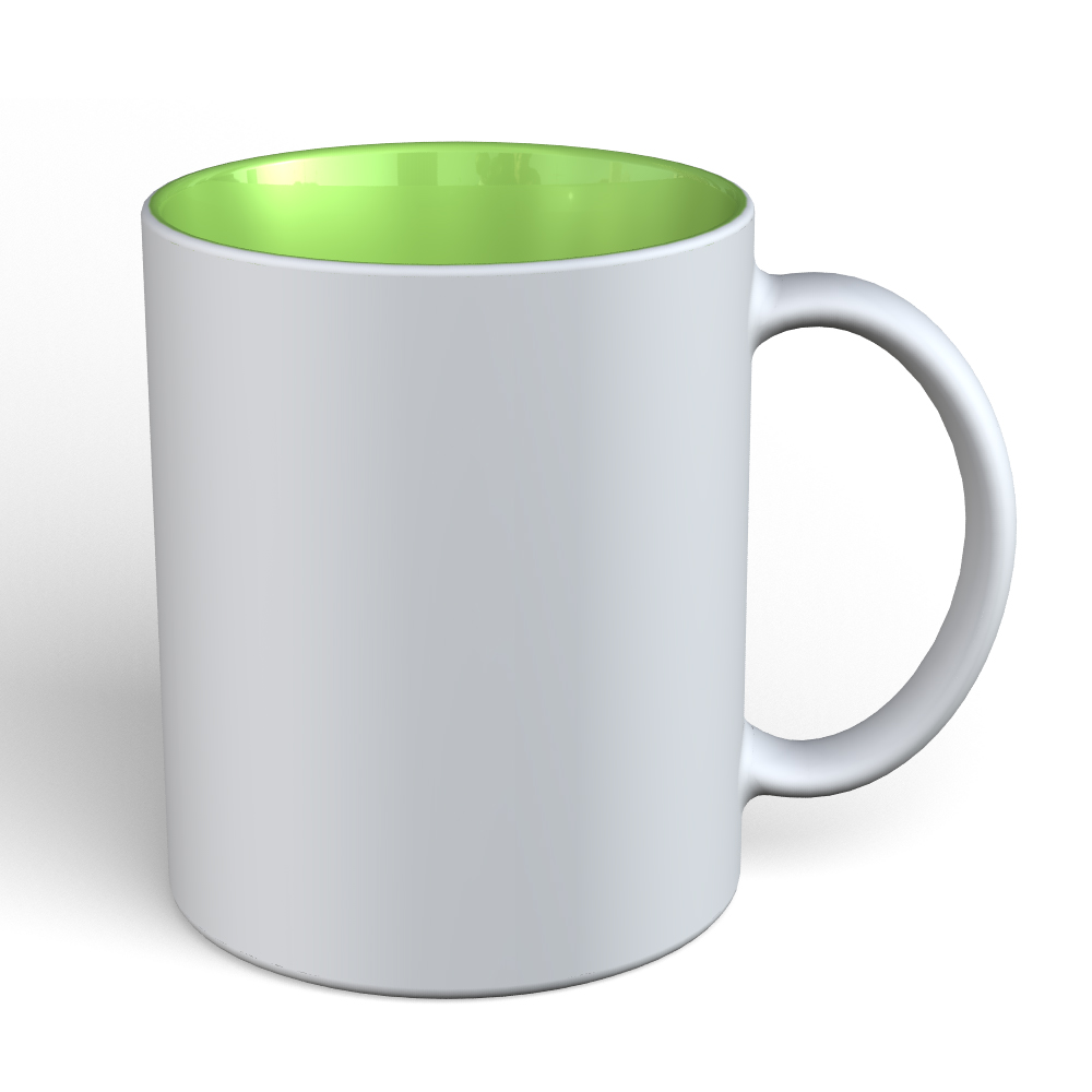 Matte Mug 11oz-White-Lime-2283C