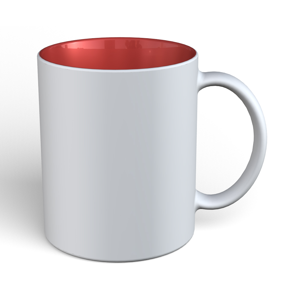 Matte Mug 11oz-White-Red-180C