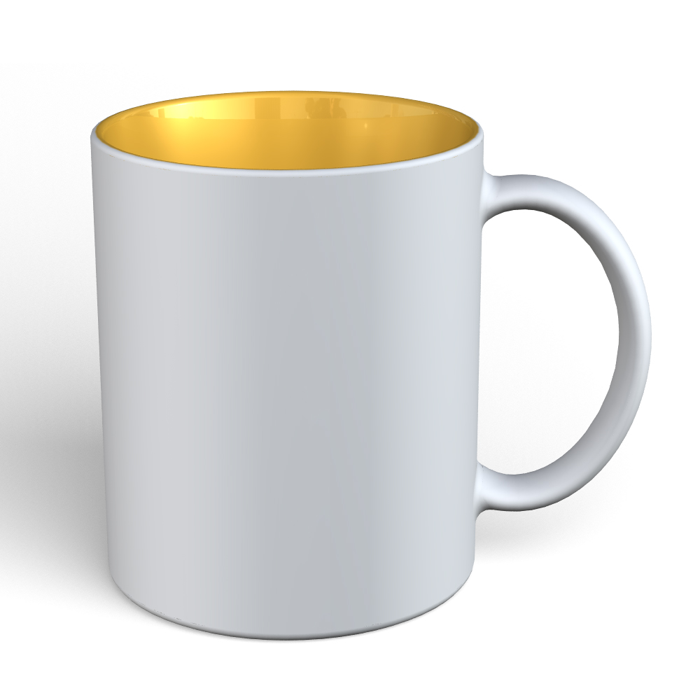 Matte Mug 11oz-White-Yellow-136C
